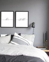 Be Still Print, Minimalist Typography Art, Bedroom Print, Be Still Poster Yoga Wall Art Relaxation Bedroom Wall Decoration, Instant Download   – interior bedroom