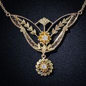 Delicate Antique Diamond Necklace