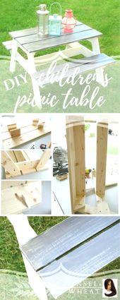 DIY Picknicktisch für Kinder. Perfekte Größe für Kleinkinder und Kleinkinder! W