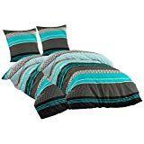 Sentidos Bettwasche Set 4teilig Renforce Baumwolle 135x200 Cm Cm Mit Reissverschluss Bett Bezug 80x80 Cm Kissen Bezug Bett Bett Ideen Bettwasche Set Bettwasche