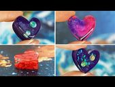 Galaxy in the heart of resin DIY 10 CHEAP AND EASY DIY JEWELRY IDEAS Resin GALAX…   – Resin Technique