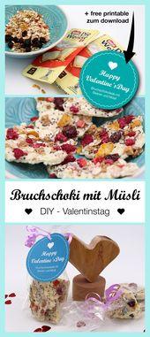 Schokolade selber machen mit Müsli – schöne DIY Geschenke für Frauen