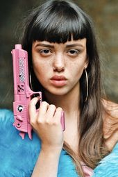 bbab38d0ef2231fd7104c89c16f6302e  pink guns female faces - If Only We Lived in a Postapocalyptic World Run by Women