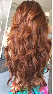 Cute red hair color on long wavy hair #redhaircolor – red hair color