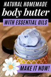 Lavendel Body Butter Rezept mit ätherischen Ölen für die natürliche Hautpflege – essential  oils
