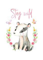 Baby Ilustration Wald-Kinderzimmer-Zitat-Drucke 10er-Set Wald Animal-Prints | Etsy