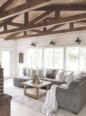 101 Best Farmhouse Living Room Decoration Ideas #Farmhouse #LivingRoomDecor