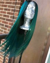 Elegants Green Straight Lace Front Human Hair Wig With Baby Hair 130% 150% 180%Density Preplucked