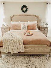 ✔69 stylish farmhouse master bedroom decor ideas 56