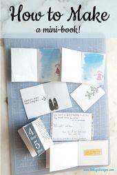 Wie man aus einem Blatt Papier ein Minibuch macht   – Cat's Staycation Ideas