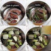 Quick & Easy Turkey Neck & Giblet Broth
