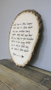 Hold Him A Little Longer Rustic Wood Round Sign for Baby Boy Nursery – kirah