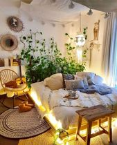 The style secret of this hippie bedroom is to keep light tones in tone   – Interior