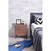 Union Rustic Paul Nachttisch mit 2 Schubladen Farbe: Columbia Walnut   – Minimalist bedroom