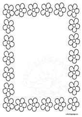 Border coloring pages printable