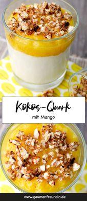 Kokosquark mit pürierten Früchten und Nüssen   – SÜSSES & DESSERTS   sweets