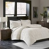 Madison Park Adelyn King/Cal King Ultra Plush Down Alternative Comforter Set in Ivory - Olliix MP10-4803