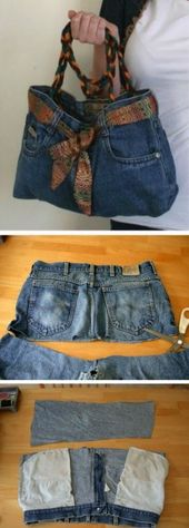 Denim Jeans Bag Pattern Einfache DIY Video-Anleitu…