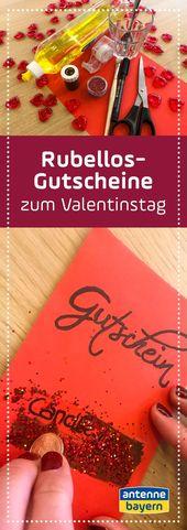 DIY zum Valentinstag: Rubbellos-Gutschein   – Do it Yourself – Schöne Dinge einfach selber machen