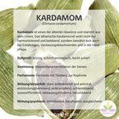 Kardamom ist eines der ältesten Gewürze und stammt aus dem Orient. Das ätheri…