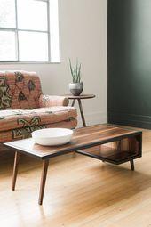 Wood Steel Coffee Table Metal Frame Mid Century Modern Industrial Furniture Living Room Small Walnut