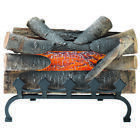 20 Natural Wood Electric Fireplace Realistic Flame Crackling Logs