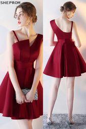 Nur $ 66, Short Aline Burgund Red Homecoming Kleid mit Trägern # HTX86011 at She ...