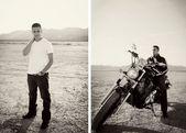 Fotografie auf einem trockenen Seebett Las Vegas Motorcycle – Motorcycle Photographic …   – Motorrad