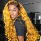 Human Hair Wig 100% Remy Hair 13×4/6 Lace Front Wigs | 360 Lace Wig | Full Lace Wigs on Sale Yellow Hair Hairstyle&color the Same As the Picture
