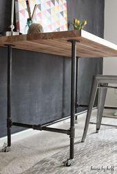 DIY Rohr Tisch #DIY Schreibtisch