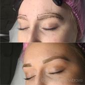 Hair Stroke Feather Contact Microblading Microstroke Tattooed Eyebrows pure bro…