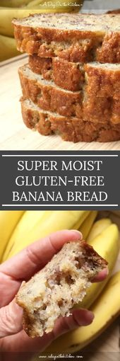 Super Moist Gluten-Free Banana Bread This cinnamon sugar chex mix is SO GOOD. Su…