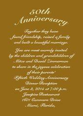 Golden Jubilee 50th Anniversary Invitation Cards Item Aamk1011 50th Anniversary Invitations Anniversary Invitations 50th Wedding Anniversary Invitations