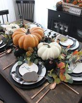 25 Décoration de table de Thanksgiving parfaite pour un style élégant