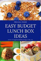 Budget Lunch Box Ideen, die einfach und gesund sind   – Food