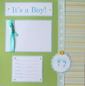 20 BABY BOY Layouts Scrapbook Pages for 12×12 FiRsT YeAr ALbUm – Document all of… – Baby boy & Girl Scrap pgs