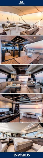 Ferretti Yachts 550 – interior | New design layouts and features. #luxuryyachts