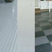 Garage Flooring Comparison Garage Epoxy Vs Garage Tiles Vs Garage Mats Aletharayfield2 Flooring Garage Mats Garage Epoxy