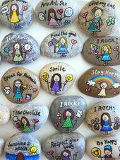 Inspirational Message Stones, Affirmation Stones, Wedding party gift,Inspirational gifts, wedding favors, painted rocks, pebble art