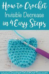 How To Crochet Single Crochet Invisible Decrease – Crochet 365 Knit Too