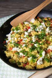 Rührei mit Paprika und Schafskäse   – Low Carb-Rezepte