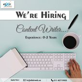 We Re Hiring Content Writer Location Delhi Send Us Your Resume At Hr Elixirweb Online Marketing Agency Digital Marketing Services Online Marketing Services