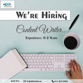 We Re Hiring Content Writer Location Delhi Send Us Your Resume At Hr Elixirweb Online Marketing Agency Digital Marketing Services Online Marketing Services