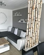 "Alpine on Instagram: ""room divider? Fancy. Birch trunk room divider? Even fancier! ❤️🌳 @frannibee has her monochrome living room with our # alpinafeine colors … """
