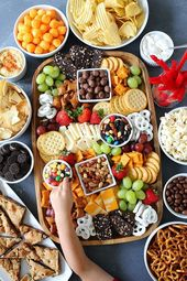 How to make a sweet and salty snack board