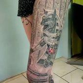 Ägyptische Götter , komplettes Bein …. gestochen von Kawai  #tattoomannheim #m…
