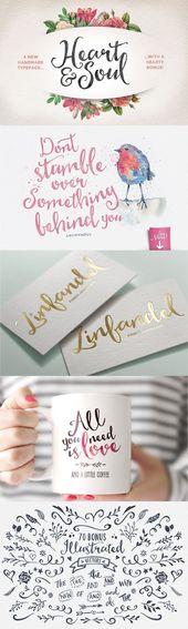Heart & Soul Schrift von Nicky Laatz #designtools #font #lettering #type: