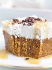 Tarta de almendras y batata con crema de coco   – Cake | Kuchen