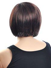 Wie Echthaar£¡Charmant Meistverkaufte Attraktiv Damen Kurz Glatt Broun Wig#Meistverkaufte#Attraktiv#Charmant
