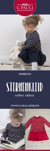 Kinderkleid mit Kräuselrock – Freebook | Nähtalente